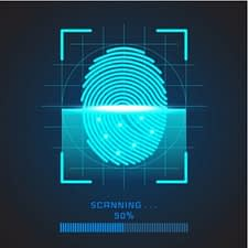 fingerprint being scanned