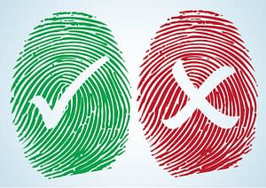 correct vs incorrect fingerprints
